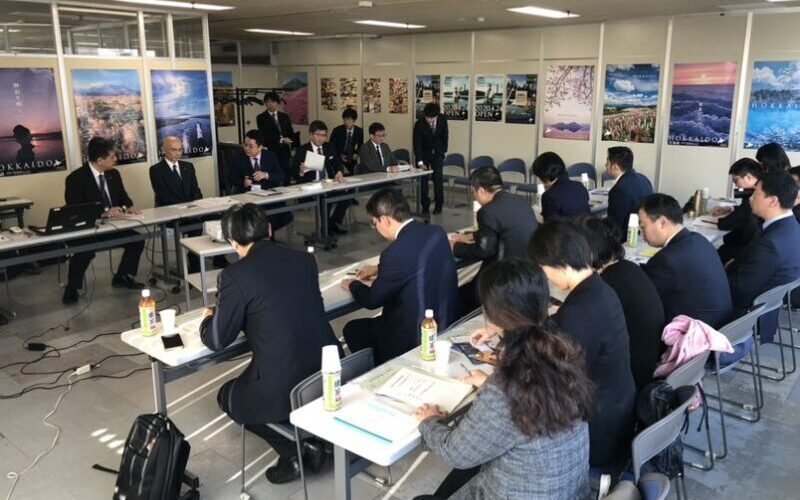 北海道庁での訪問・交流